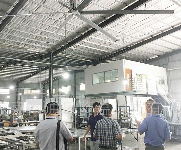 美科厂房车间节能工业大吊扇制冷案例